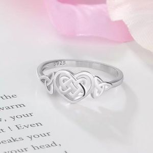 Jewelry - ARRIVED! 925 Silver Celtic Heart Knot Ring